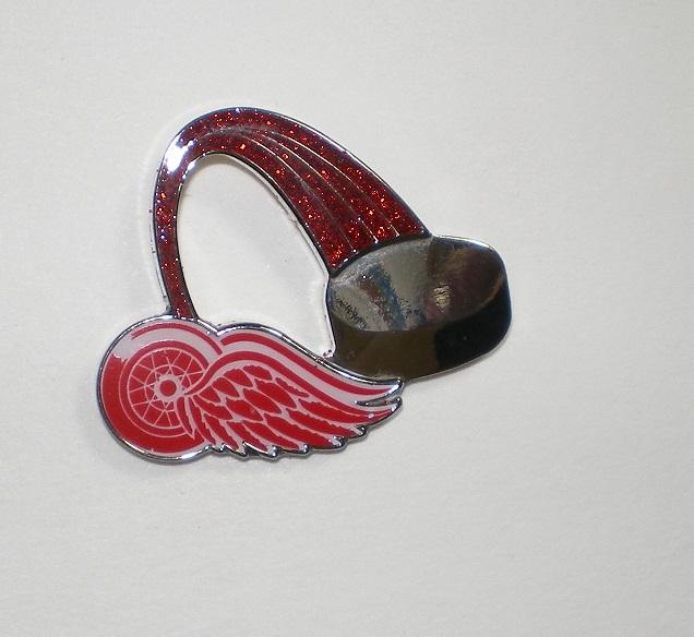 Detroit Red Wings Lapel Hat Pin NHL Licensed Glitt