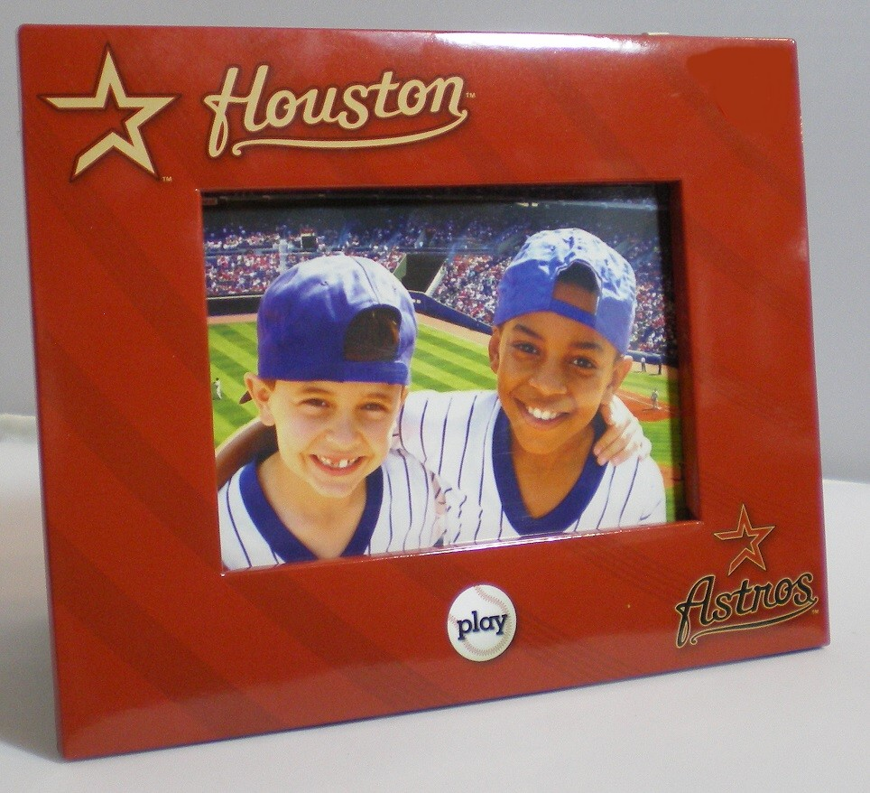 """Houston Astros Picture Frame Holds 4"""" Tall by 6"""" W"""