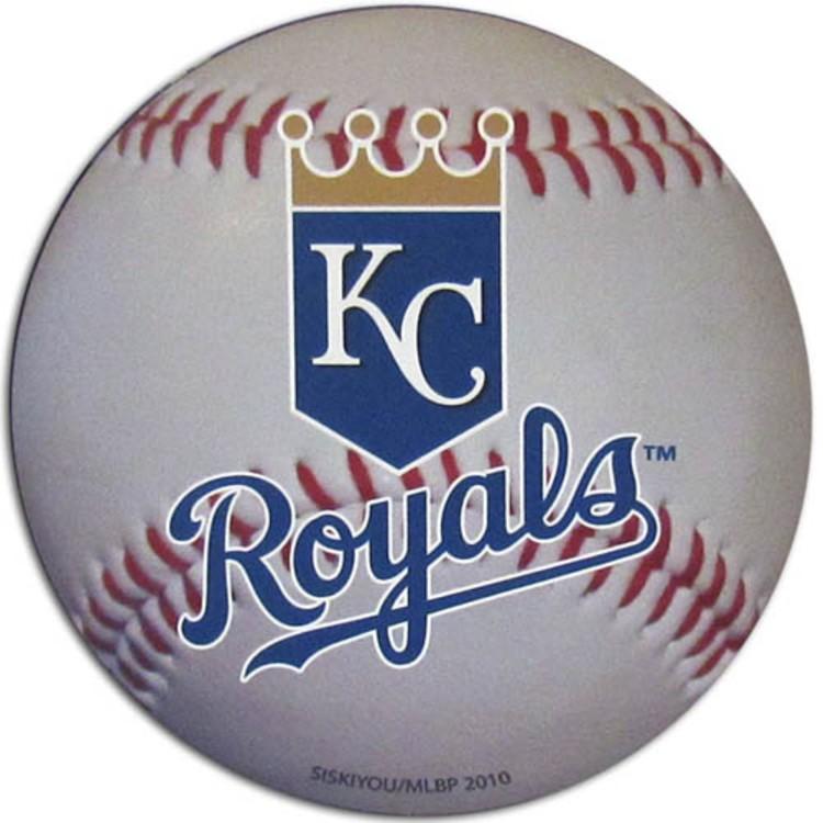 "Kansas City Royals Auto Magnet 4.5"" Baseball Shape"