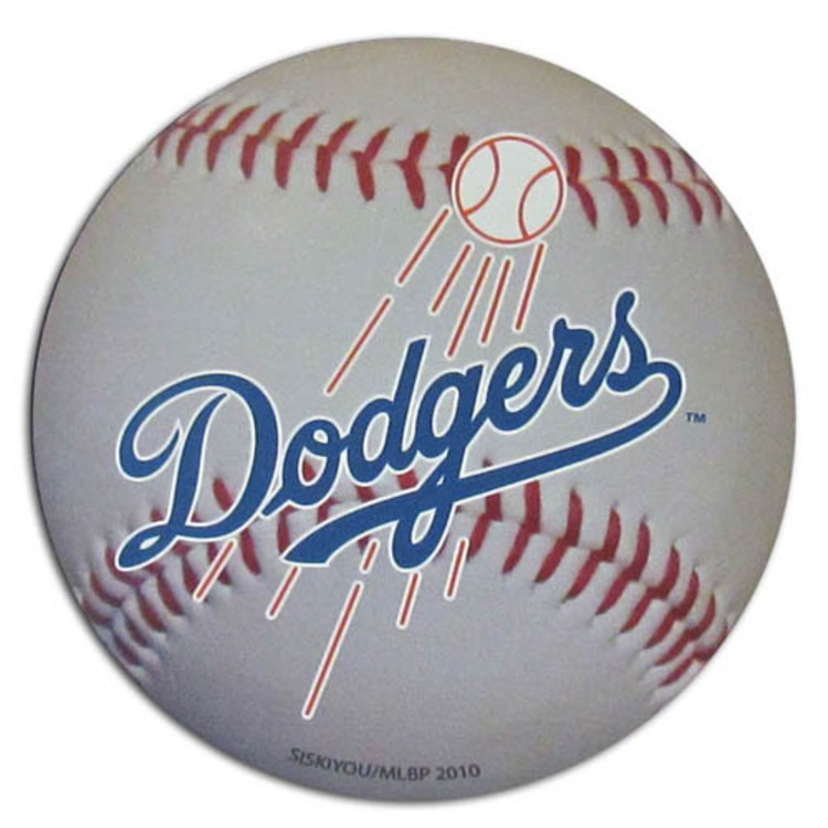 "Los Angeles Dodgers Auto Magnet 4.5"" Baseball Shap"