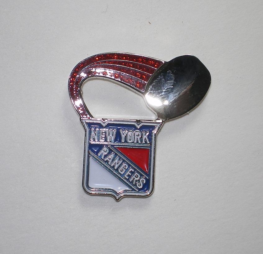 New York Rangers Lapel Hat Pin NHL Licensed Glitte