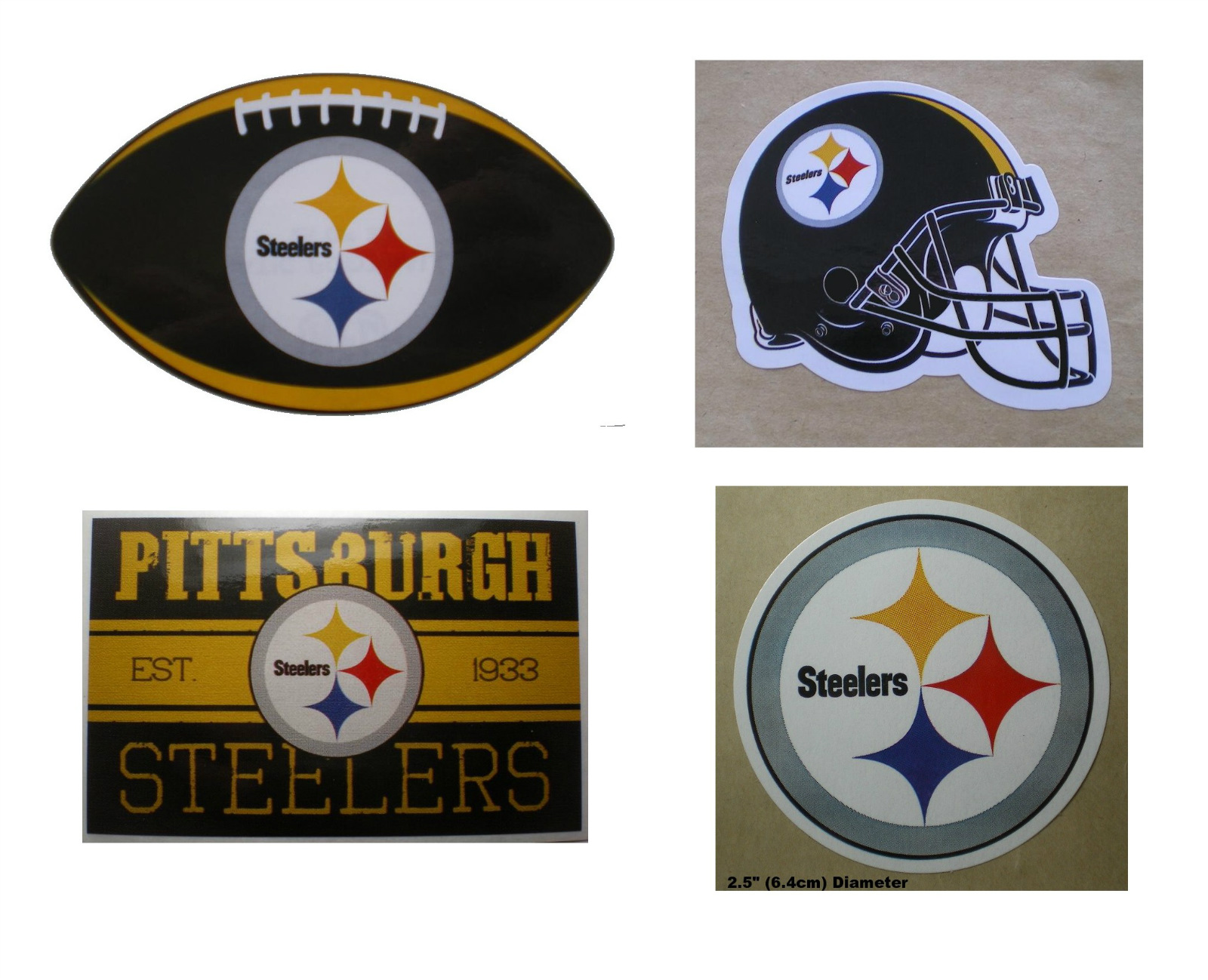 Galerry  steelers logo ultra decal officially licensed pittsburgh steelers