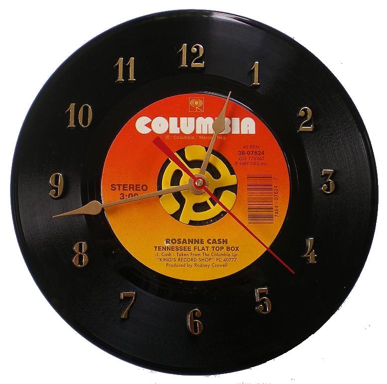 45 Record Clock Roseanne Cash Tennessee Flat Box