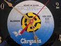 """Blondie 45 Record Clock """"Heart of Glass"""" (Once I"""