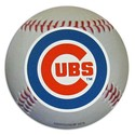 "Chicago Cubs Auto Magnet 4.5"" Baseball Shape with"