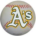 "Oakland Athletics Auto Magnet 4.5"" Baseball Shape"
