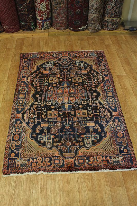 unique navy blue nahavand hamedan persian oriental area rug carpet 5x8 ebay. Black Bedroom Furniture Sets. Home Design Ideas