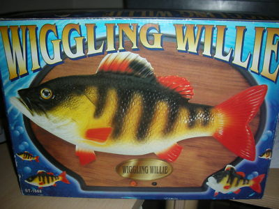 Mgtracey used wiggling singing willie animated fish wall for Talking fish on wall