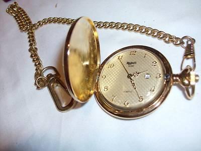 Michelleheath Majestic Pocket Watch With Chain