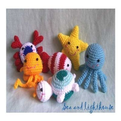 Crochet Sea Life Amigurumi : Amigurumi Cute crochet Toys and Carfts shop : Crochet ...