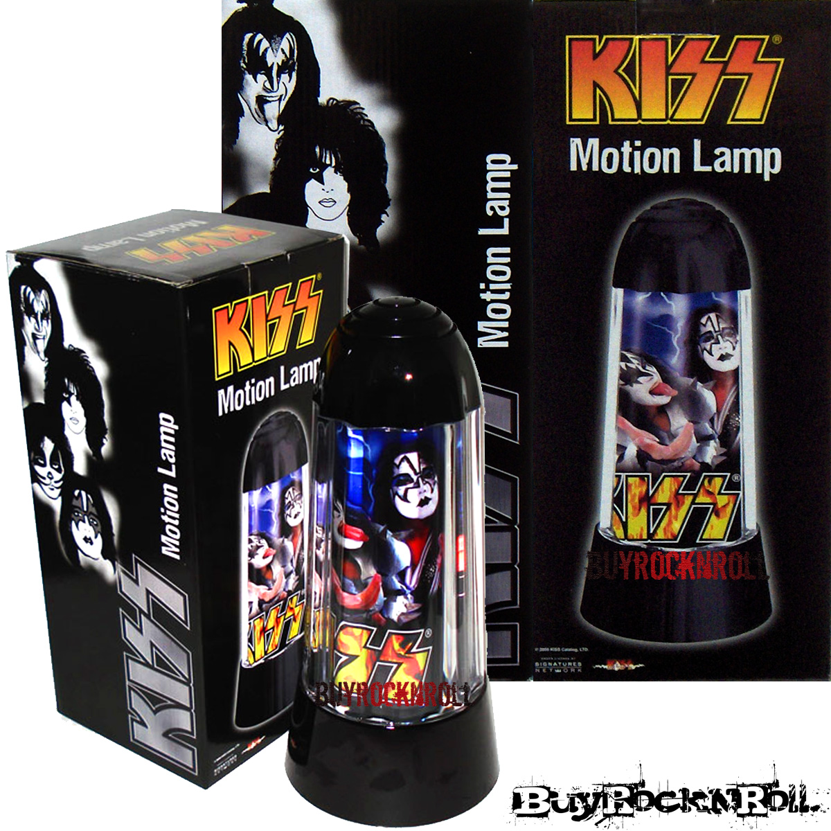 KISS-Collectors-Memorabilia-2006-Motion-Lamp-Demon-Starchild-Catman-Space-Ace
