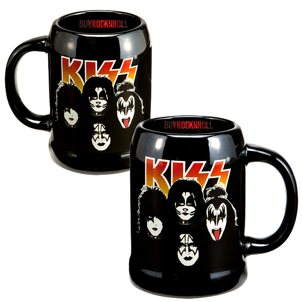 Kiss Band Faces: KISS Collectible: 2012 Band Members 20 Oz Ceramic Stein