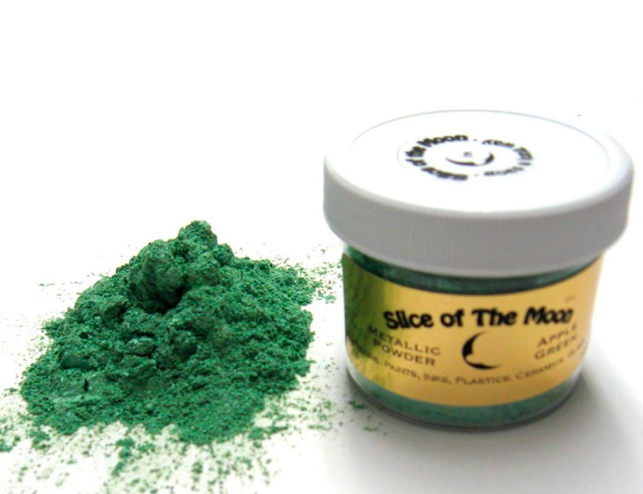 Apple Green Mica Powder 1oz, Green Metallic Powder