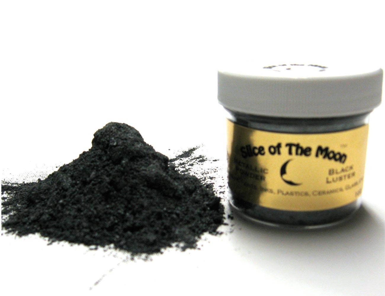 Black Luster Mica Mineral Powder 1oz, Gray Metalli