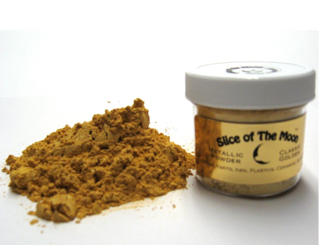 Classic Gold Mica Powder 1oz, Metallic Gold Powder