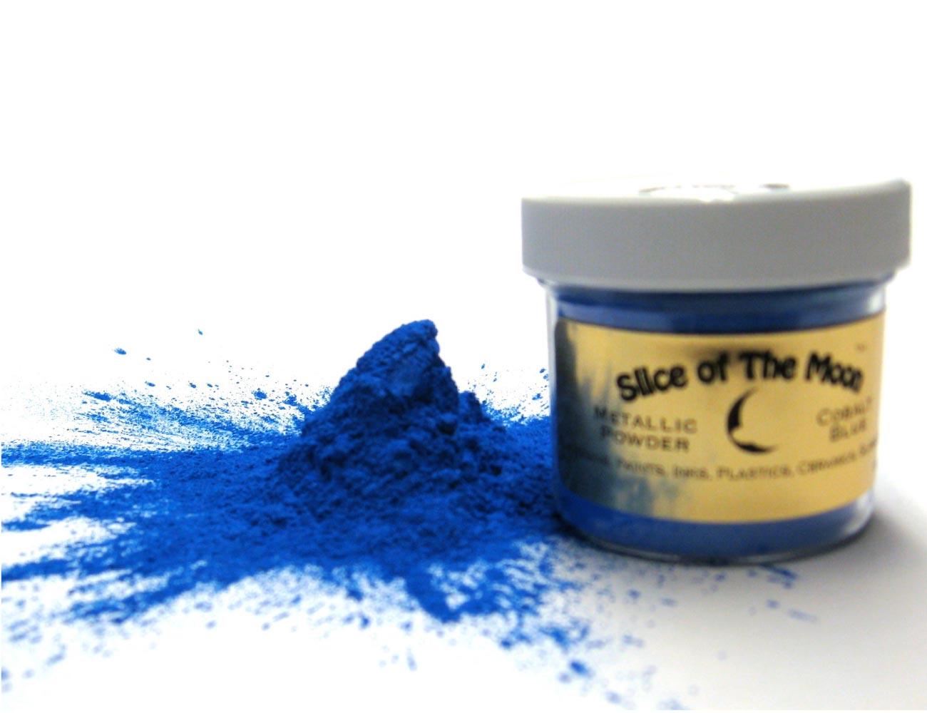 Cobalt Blue Mica Powder 1oz, Metallic Blue Powder,