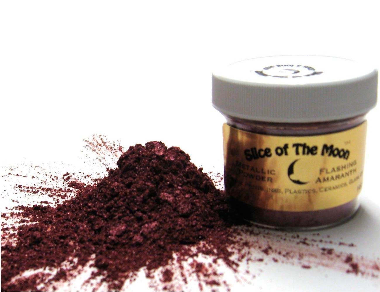 Amaranth Mica Powder 1oz, Metallic Burgundy Powder