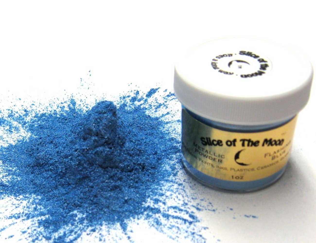 Flashing Blue Mica Powder 1oz, Blue Metallic Powde