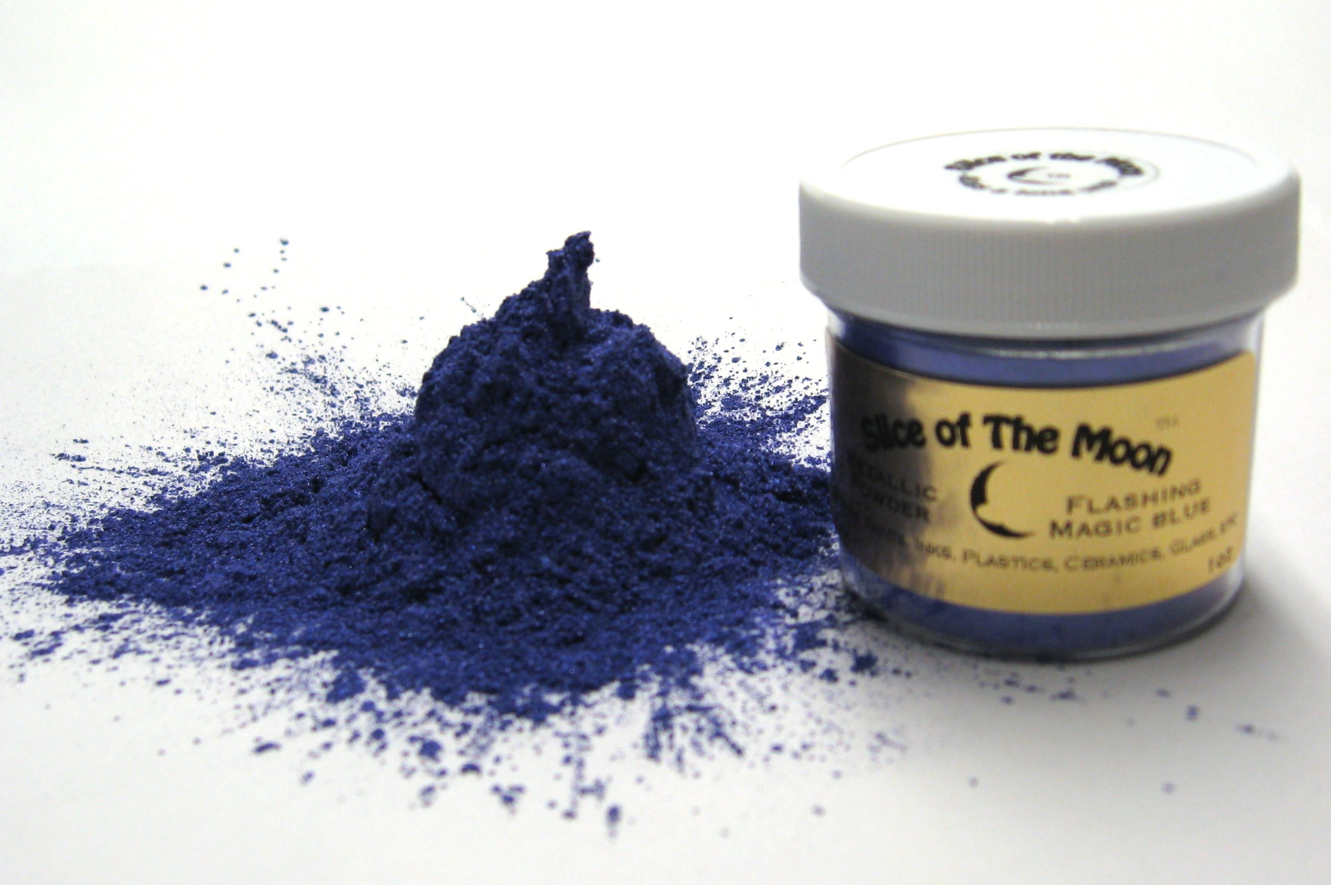 Flashing Magic Blue Mica Powder 1oz, Metallic Blue