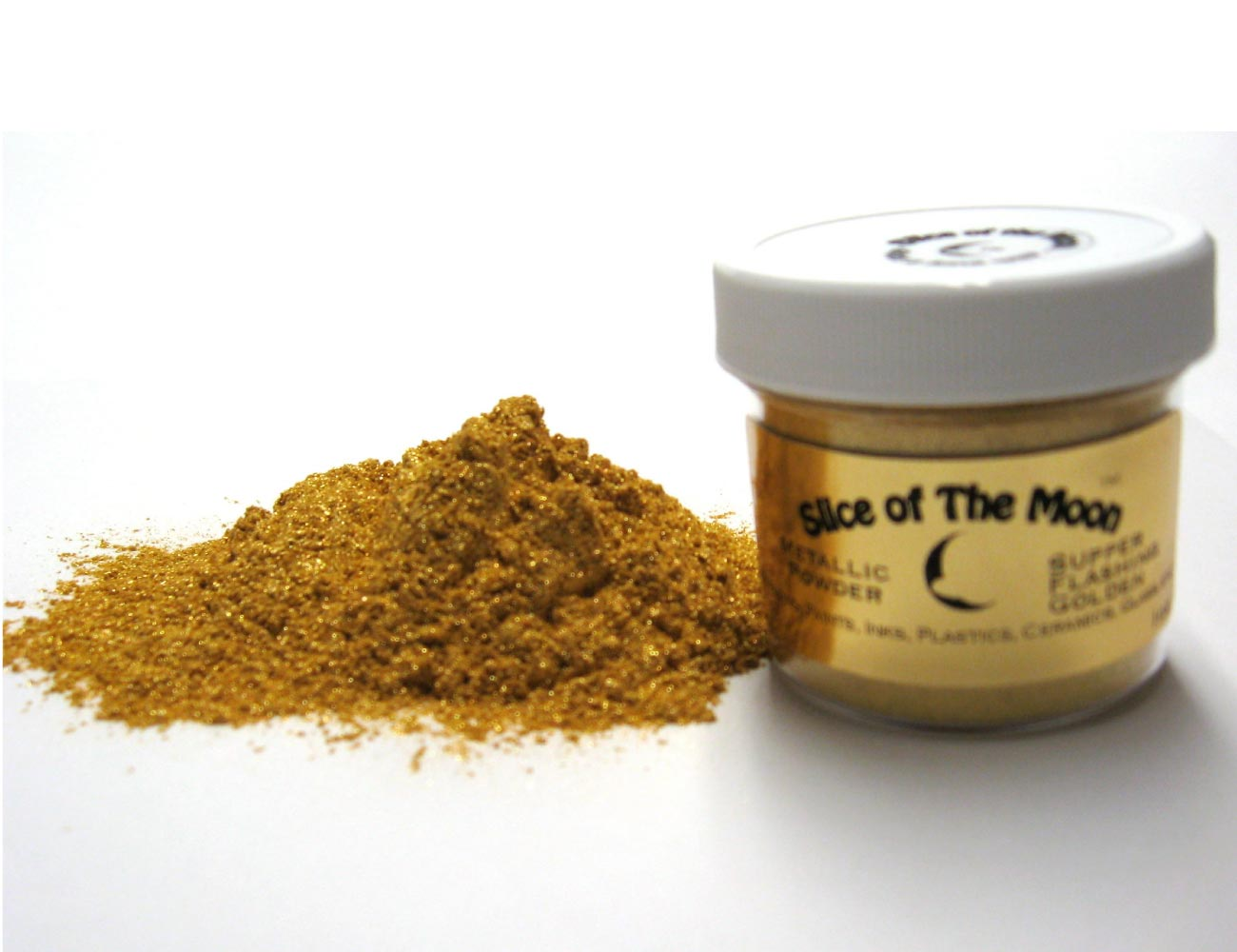 Super Flashing Golden Mica Powder 1oz, Gold Metall