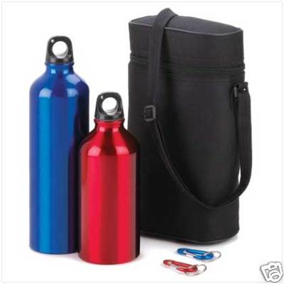 The Fog Shoppe New 5 Piece Aluminum Water Bottle Set W