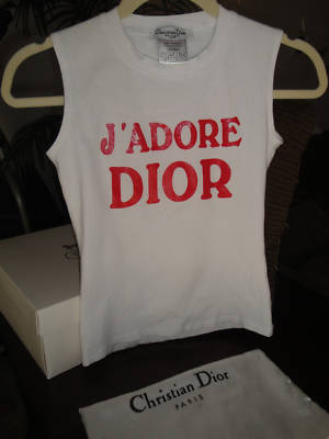 Queenoftheglammed Authentic Christian Dior Tank Top
