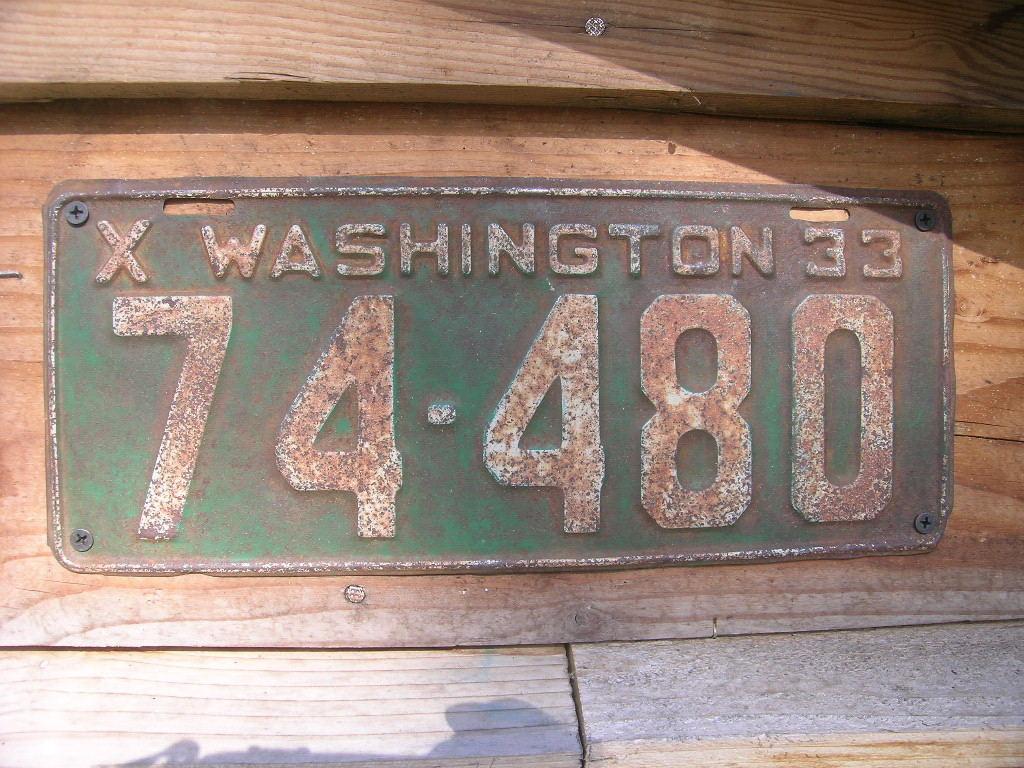 Vintage V8 Parts and Supply co. : 1933 Washington state liscense ...