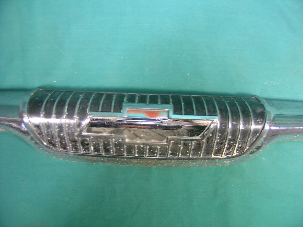 Truck 1957 chevy truck parts : Vintage V8 Parts and Supply co. : 1957 Chevy Truck hood emblem Bow ...