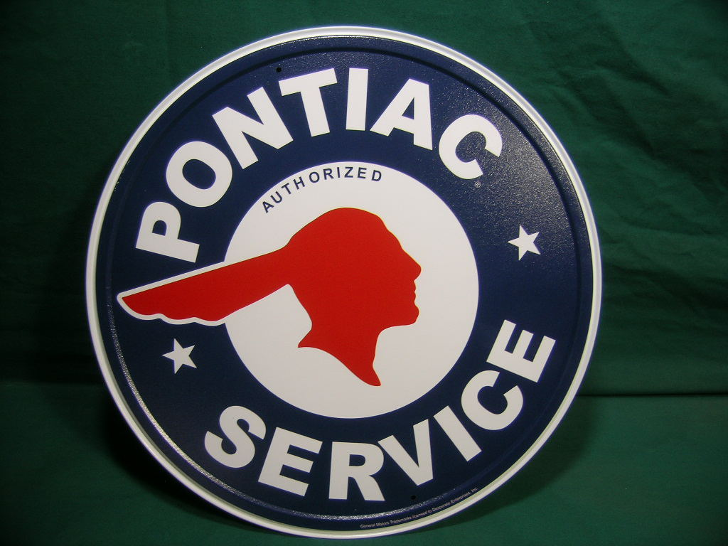 Vintage V8 Parts And Supply Co Pontiac Service Sign Retro Vintage