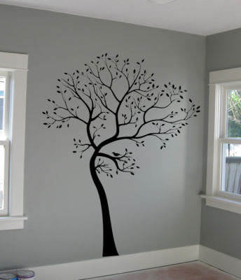 Decals by digiflare big tree with bird wall decal deco for Big tree with bird wall decal deco art sticker mural