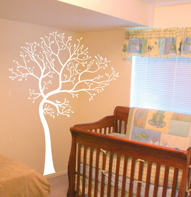 Decals by digiflare large big tree bird wall decaldeco for Big tree with bird wall decal deco art sticker mural