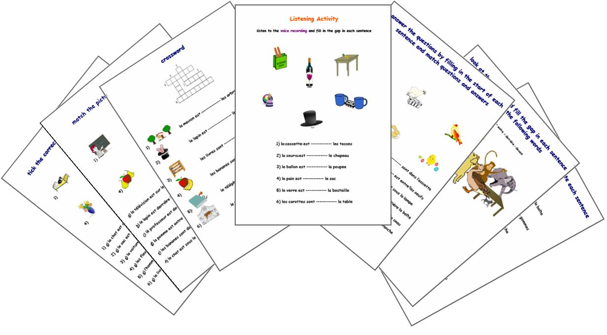 Expand Your French : Prepositions - French Worksheets