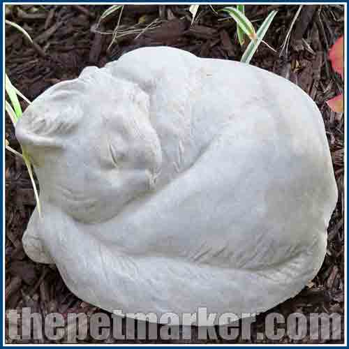 This Is Such Adorable Sleeping Cat Statue Exquisite Concrete Statues