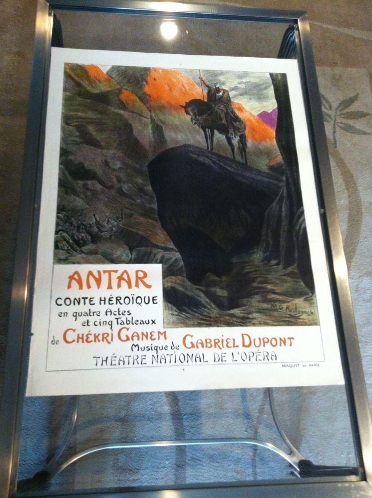 Old Original Vintage Poster For Opera Antar Gabrie
