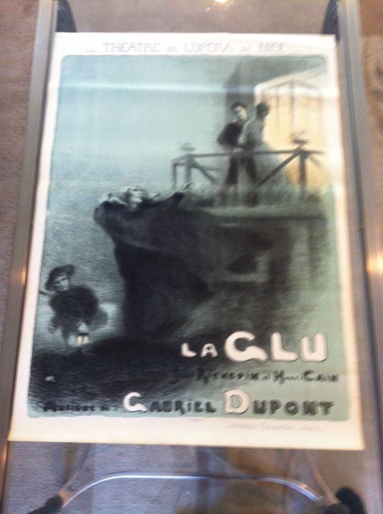 Old Original Vintage Poster For Opera De Nice. La