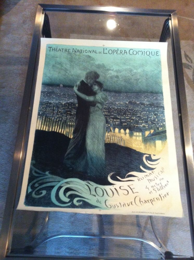 Old Original Vintage Poster For Opera Louise By Ro
