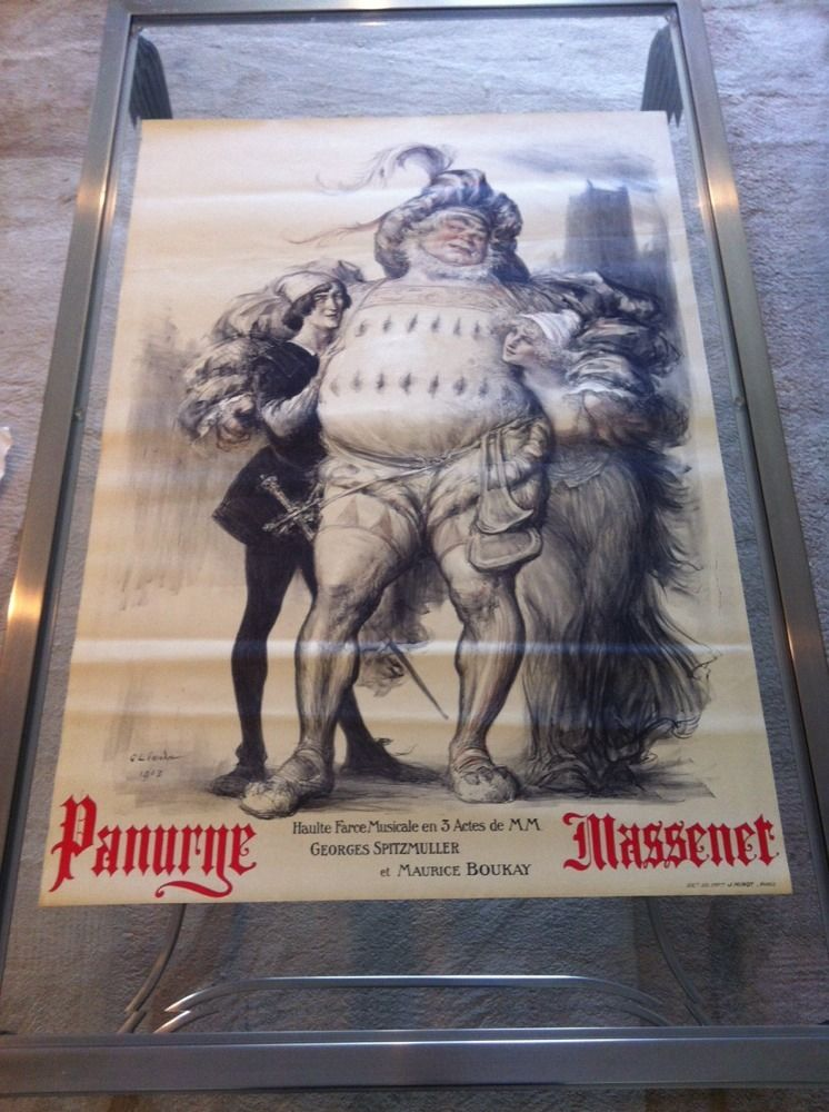 1913 Original Vintage Poster For Old Opera Panurne