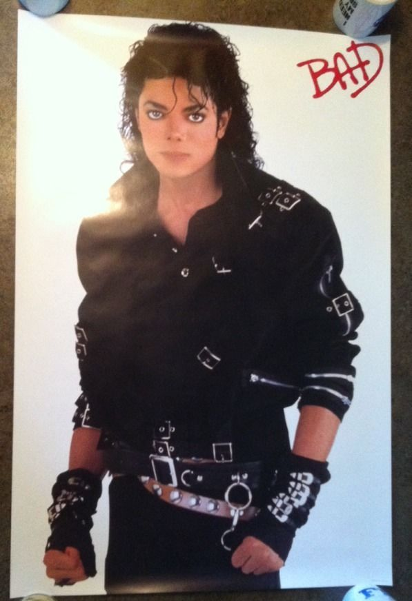 "Michael Jackson BAD Promo Poster 24"" X 36"" From 19"