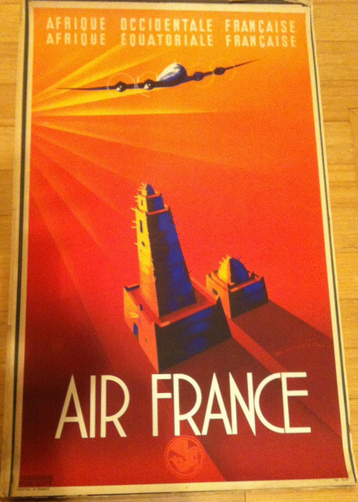Original Air France Poster circa 1930s