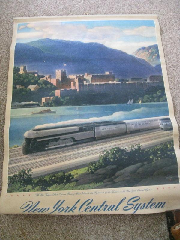New York Central System Railroad Poster Leslie Rag