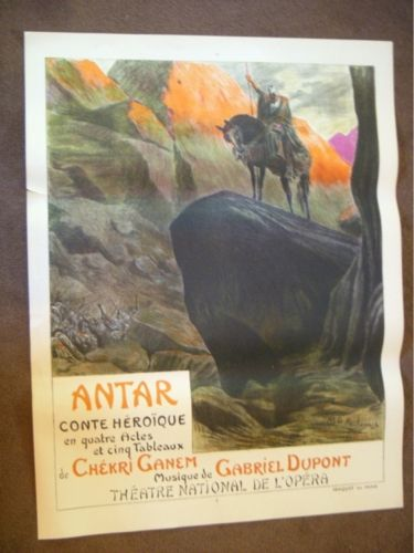 """French Poster """"Antar Conte Heroique."""" ROCHEGROSSE"""
