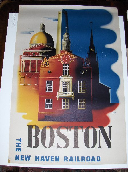 Original Vintage Ben Nason's work Boston, The New