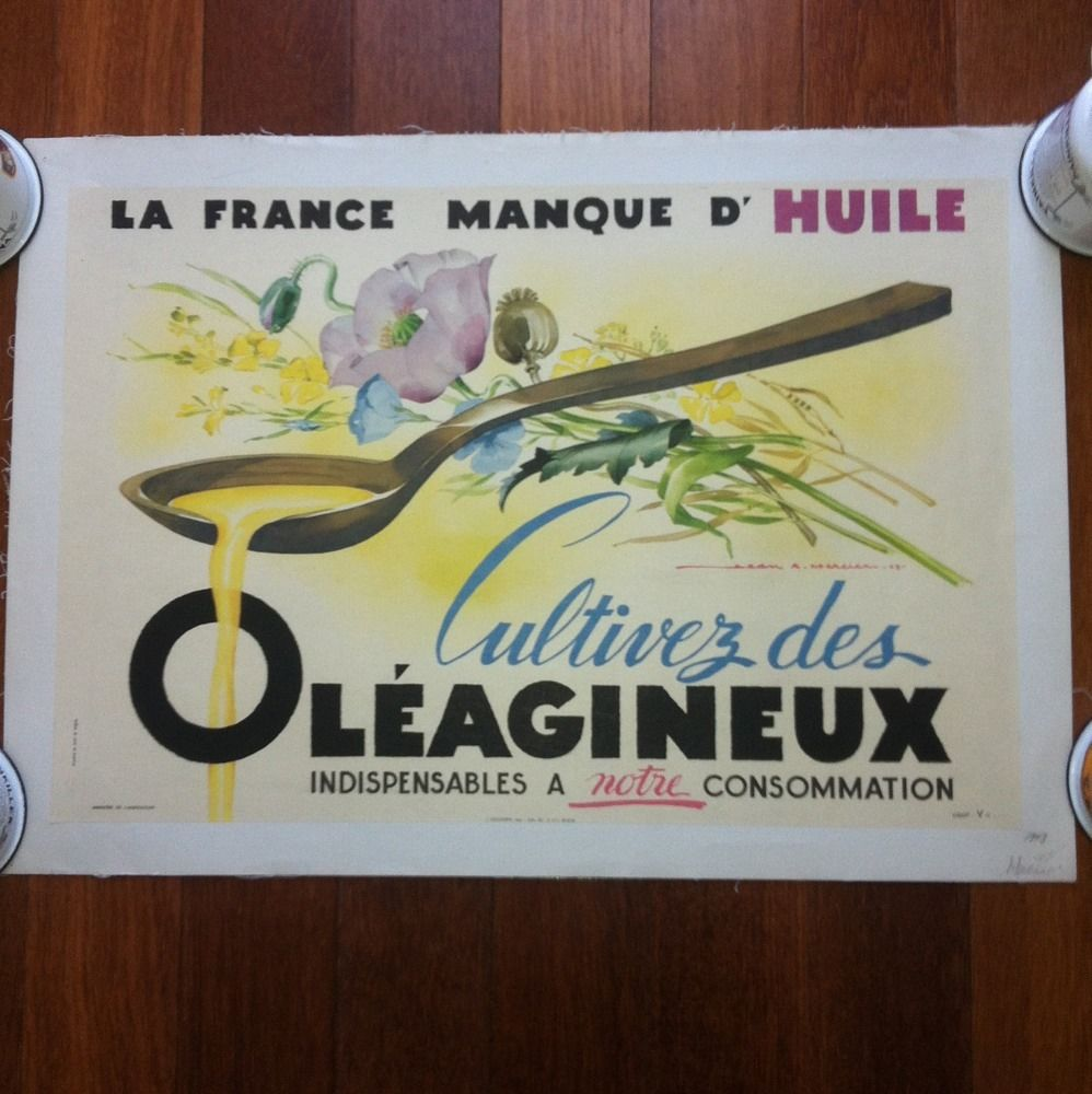 1943 Jean Mercier Original Vintage Poster Lithogra