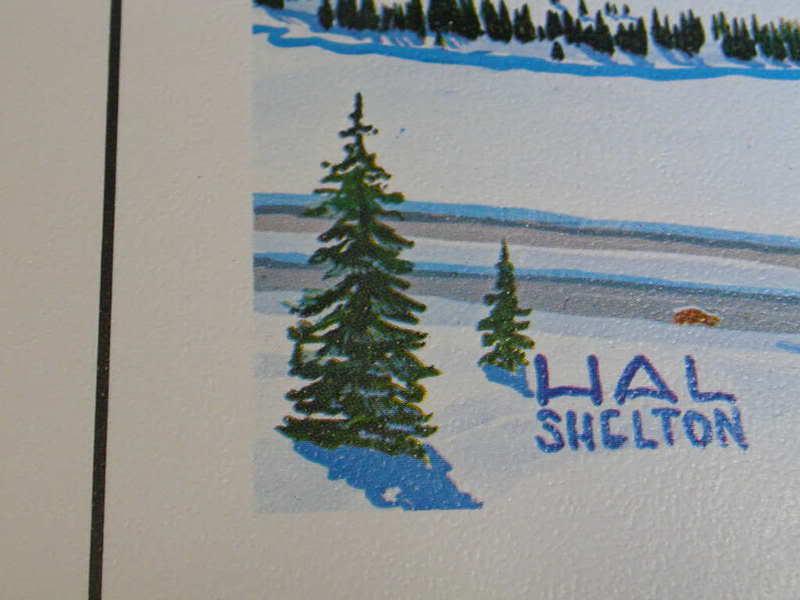 ORIGINAL 1960's VAIL COLORADO Ski Poster Hal Shelt