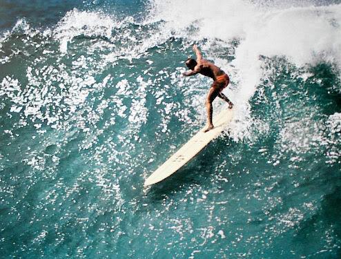 ORIGINAL 1960'S Surf Poster WAIMEA BAY Hawaii Surf
