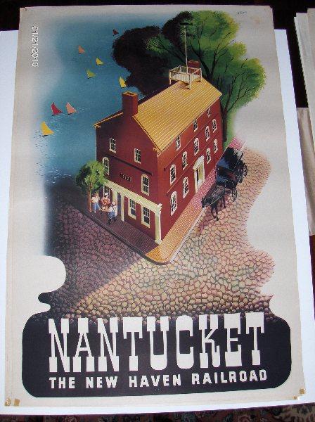 Original Vintage Ben Nason's work Nantucket, The N