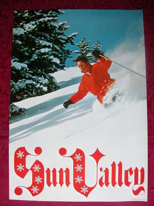 ORIGINAL SUN VALLEY Idaho Snow Ski Poster 1960s VI