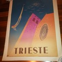 1951 Trieste Enit Railroad Original Vintage Travel