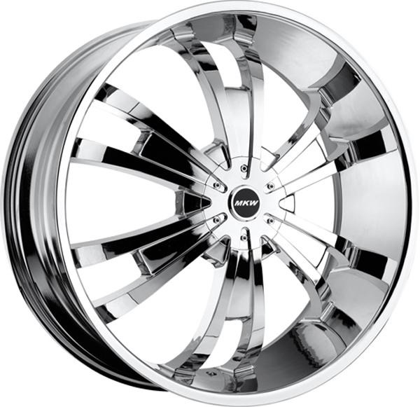 24 Chrome MKW M109 Wheels Rims 5x135 5x139 7 5 Lug Ford F 150 Dodge