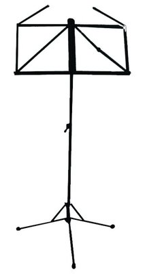 (12) PACK - Black Folding Music Stands - Extra Lar